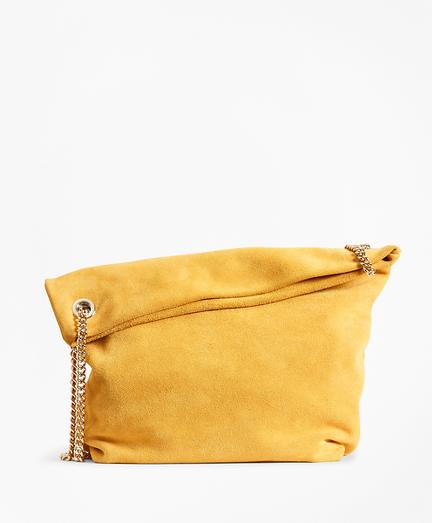 Suede Convertible Shoulder Bag