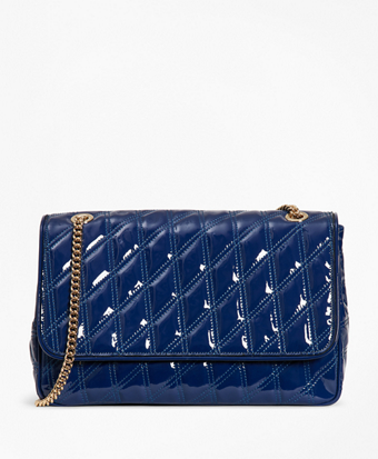 Quilted Patent Leather Convertible Cross-Body Bag