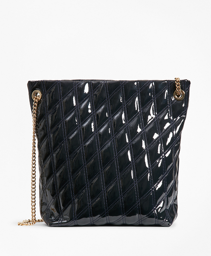 Quilted Patent Leather Shoulder Bag
