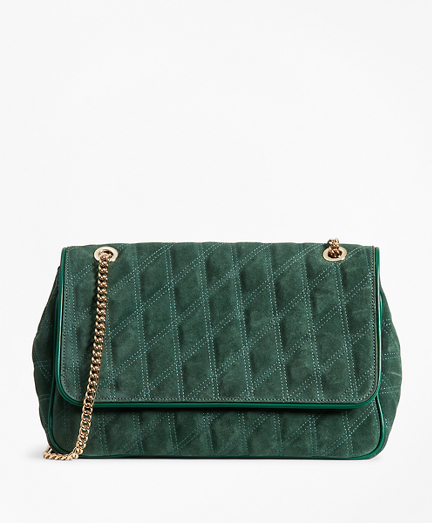 Quilted Suede Convertible Cross-body Bag