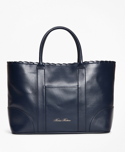 Logo-Embossed Leather Tote Bag