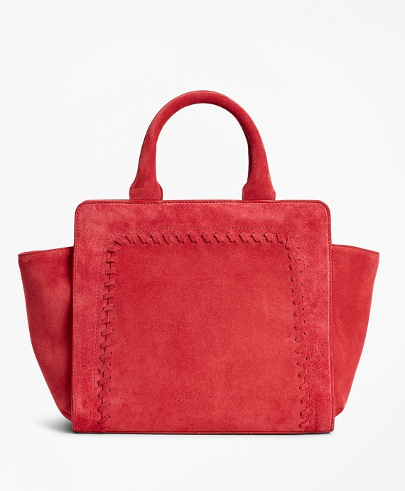 Suede Mini Tote Bag Red