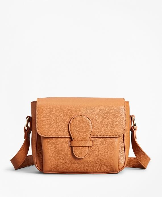 Pebbled Leather Crossbody Bag Tan