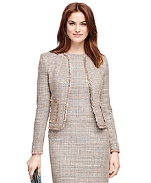 Tweed Boucle Cropped Jacket