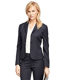 Stellita Fit Wool Small Windowpane Stretch Jacket