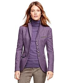 Stellita Fit Lambswool Herringbone Jacket
