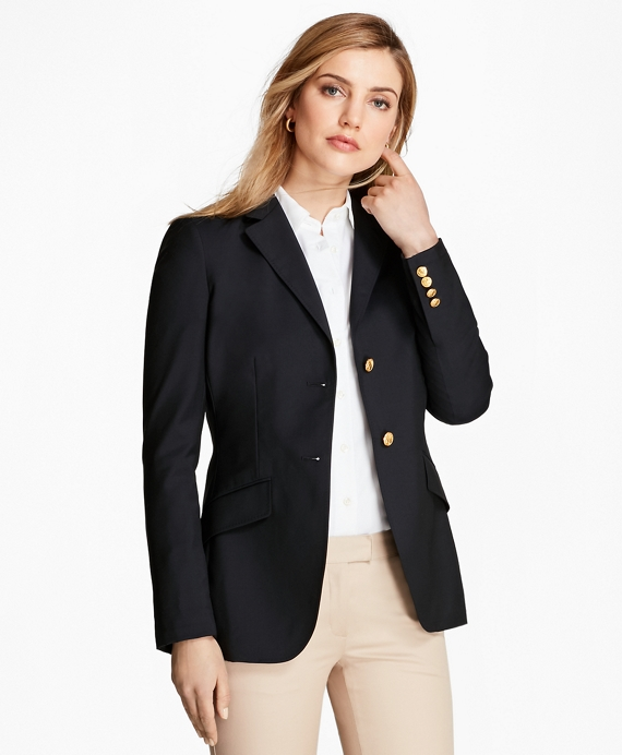 Loro Piana® Two-Button Wool Blazer Navy