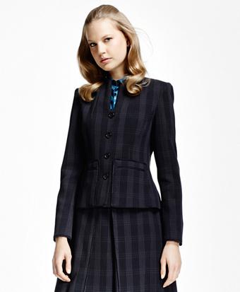 Plaid Corded Suit Jacket