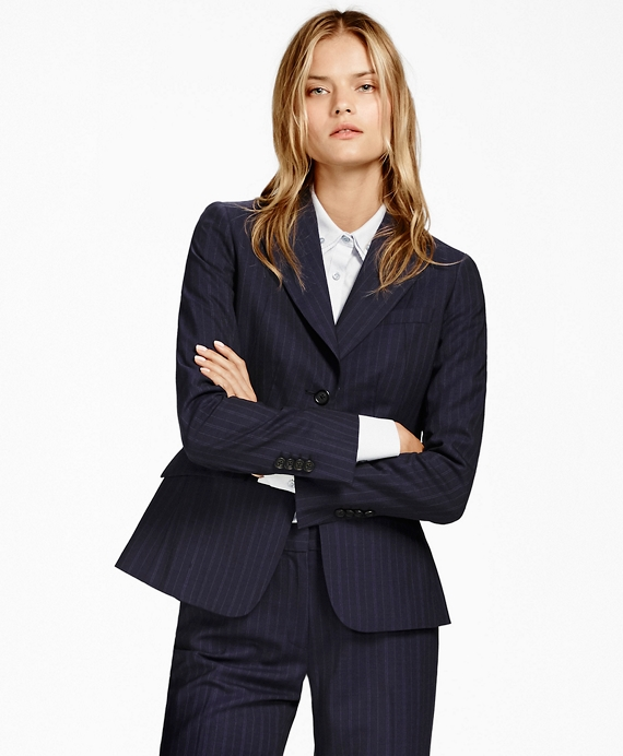 Pinstripe BrooksCool® Two-Button Jacket Dark Blue