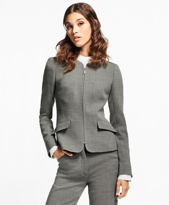 Double-Weave Stretch-Wool Jacket Grey