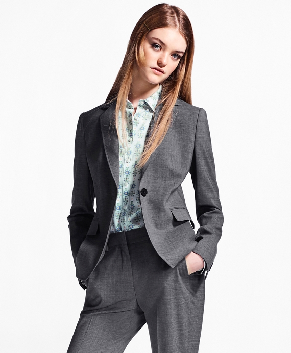 Melange Stretch-Wool Jacket Grey