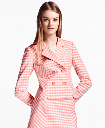 Gingham Double-Weave Jacket