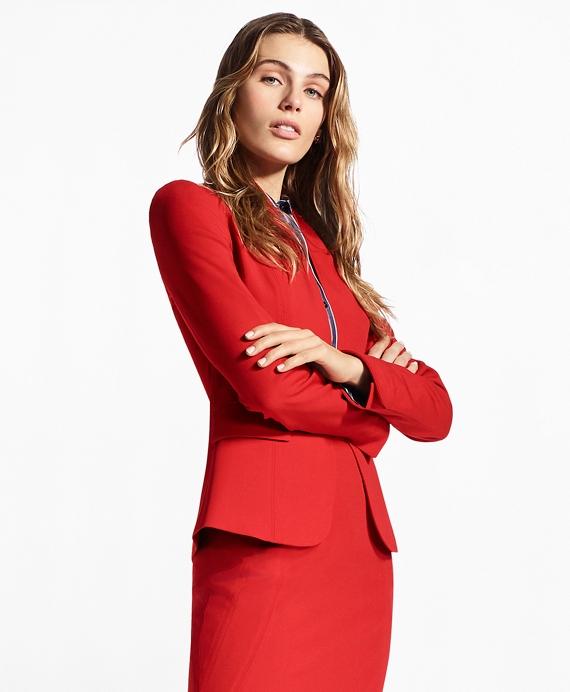 Stretch-Wool Twill Jacket Red