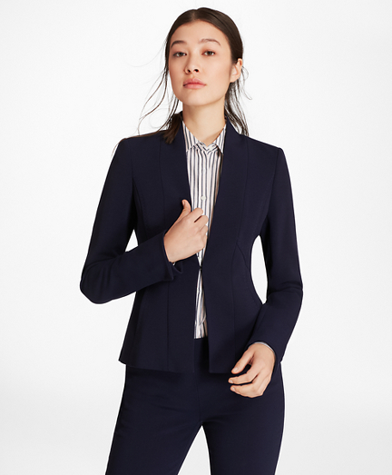 Double-Weave Crepe Jacket