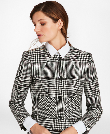 Glen Plaid Wool Twill Jacket