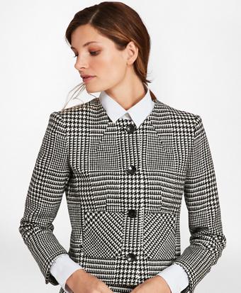 Glen Plaid Wool Twill Jacket