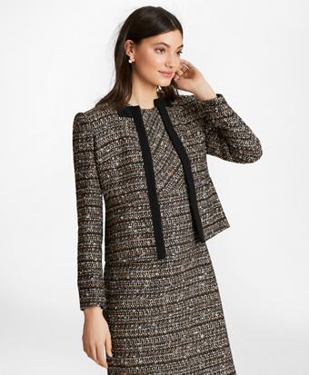 Grosgrain-Trimmed Boucle Jacket
