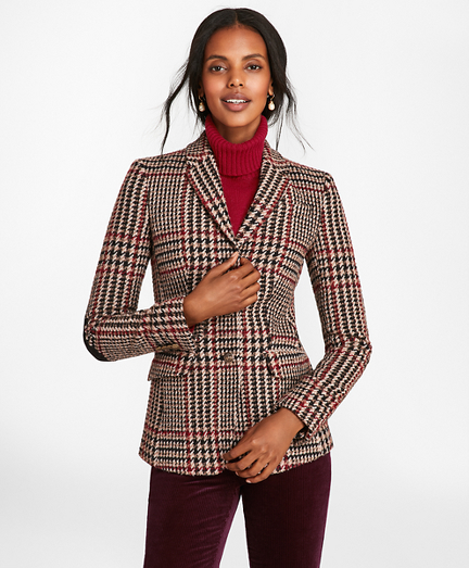 Plaid Wool-Alpaca-Blend Jacket