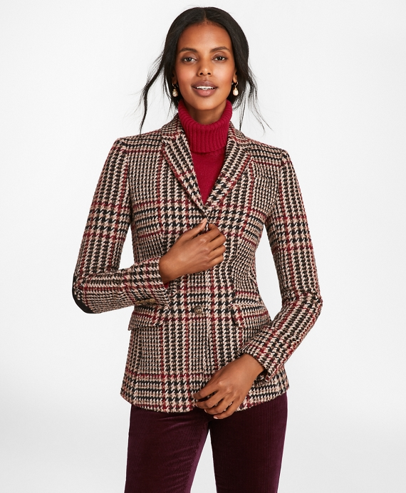 Plaid Wool Alpaca Blend Jacket by Brooks Brothers