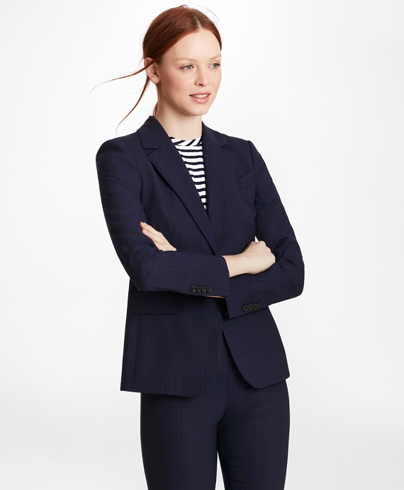Pinstripe Brooks Cool® Merino Wool Jacket by Brooks Brothers