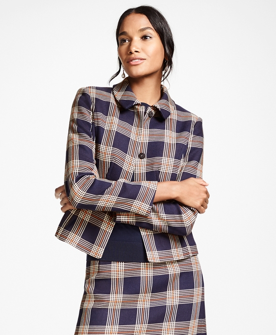 Plaid Jacket Navy