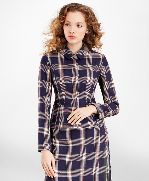 1950s Jackets, Coats, Bolero | Swing, Pin Up, Rockabilly Brooks Brothers Womens Plaid Jacket $498.00 AT vintagedancer.com