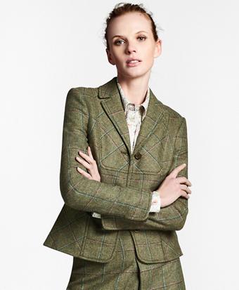 Checked Wool Tweed Jacket