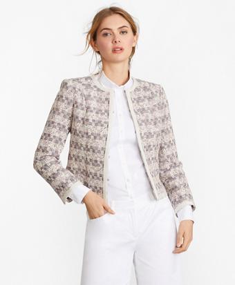 Checked Tweed Boucle Jacket