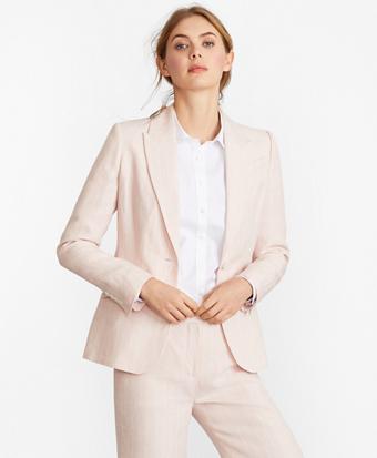 Pinstriped Linen Jacket
