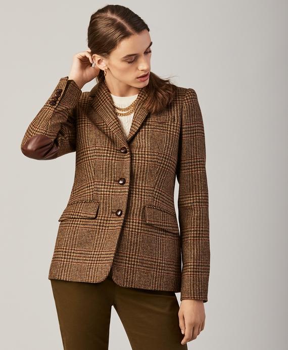Plaid Wool Jacket Tan
