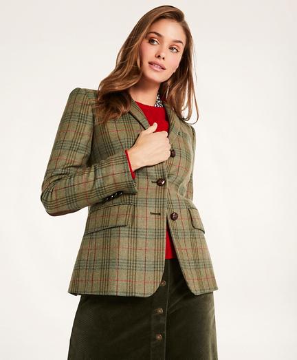 Lambswool Plaid Jacket