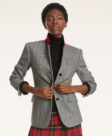 Wool Herringbone Jacket