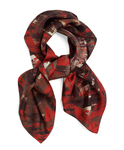 """Silk Twill Abstract Plaid 36"""" Square"""