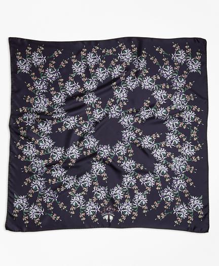 Wildflower-Print Silk Square Scarf