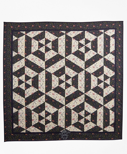 Kaleidoscope Violet-Print Silk Square Scarf