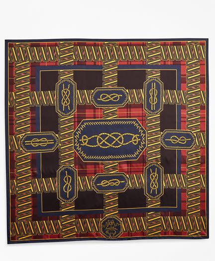Knot-Print Silk Square Scarf