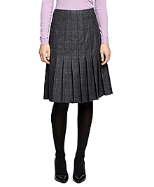 Saxxon Wool Pleated Skirt