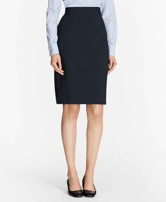 Ponte Pencil Skirt Navy