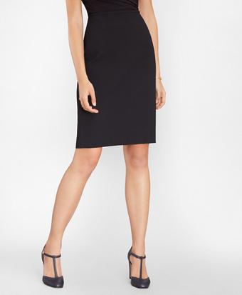 Stretch-Cotton Jacquard Pencil Skirt