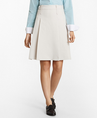 Double-Weave A-Line Skirt