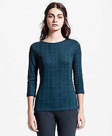 Three-Quarter-Sleeve Jersey Cotton Top
