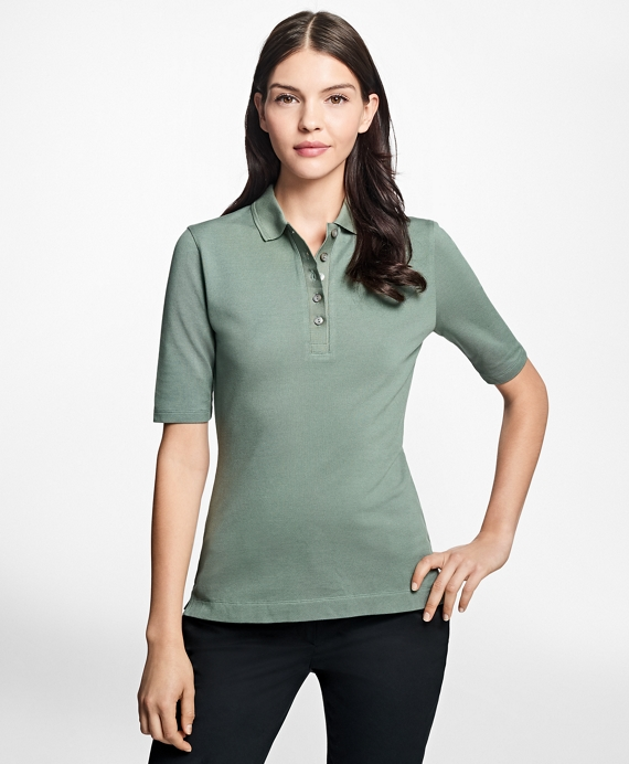 Slim-Fit Cotton Pique Polo Medium Green
