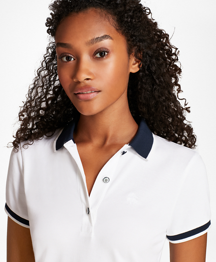 Tipped Stretch Cotton Pique Polo