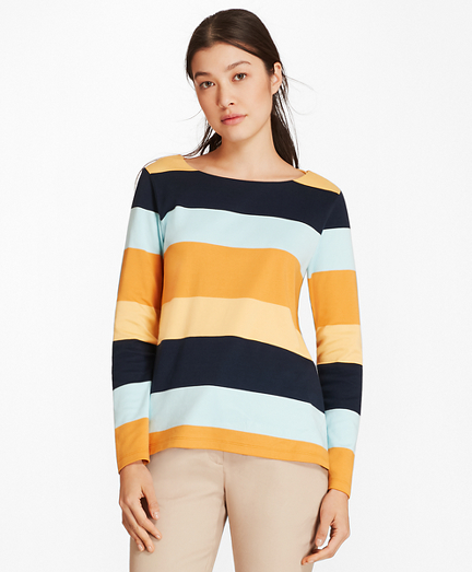 Block Striped Supima® Cotton Interlock Tunic