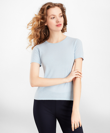 Cashmere Short-Sleeve T-Shirt