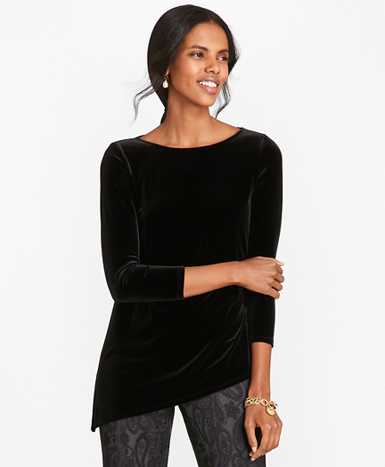 Asymmetrical Velvet Top