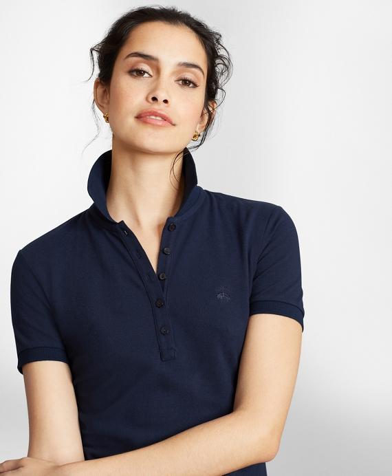 Stretch Supima® Cotton Pique Polo Shirt Navy