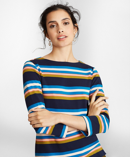 Striped Supima® Cotton Interlock Top