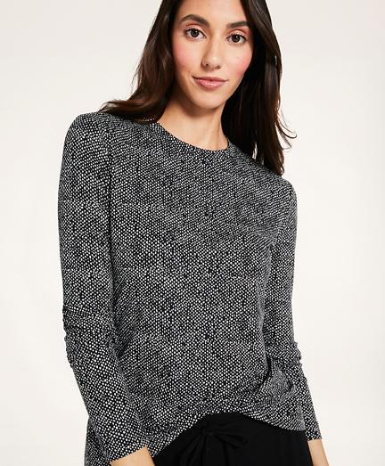 Tweed Print Long-Sleeve T-Shirt