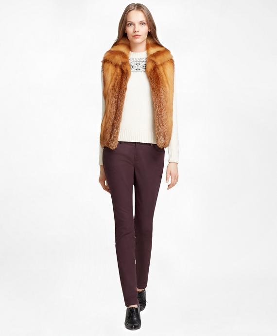 Fox Fur Vest Red